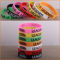 Wholesale Fashion League of Legends Bangle Charms Classic LOL Game Silicone Wristband Jelly Bracelet League of Legends