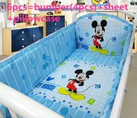 Wholesale Promotion Mickey Mouse baby bedding set bebe jogo de cama cot crib bedding set include bumpers sheet pillow cover