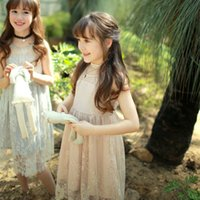 big freshness - Cute Baby Girls Ruffles Lace Embroidered Flower Princess Dress Tiny Freshness Big Bowknot Mesh Girls Dress