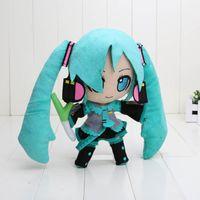 achat en gros de peluche hatsune-Hatsune Miku VOCALOID série 24CM neige sac opp Hatsune Miku Plush Doll Toys Livraison gratuite Dropship