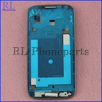 Wholesale 10pcs For Samsung Galaxy S4 I337 M919 Genuine LCD Frame New Front Housing Middle Frame Bezel Plate Home Button