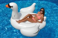 Wholesale Giant Inflatable Swimming Water Pool Toy Raft Summer Leisure Swan Float Outdoor