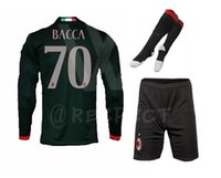 Wholesale Thailand Season Milan Soccer Jerseys Football Menez HONDA Romagnol long sleeve