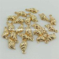 beach theme gifts - 20351 KC Light Gold Alloy Ocean Beach Theme mm Sea Snail Conch Pendant