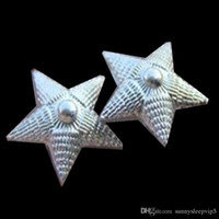 air force rank - 10pcs pairs rare Russia navy army air force rank shoulder flash stars silver plated badge