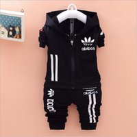 baby track pants - 2016 children boys sport set jogging jacket pants girls clothing sets kids hoodie sweatshirt baby track suit spring autumn clothes