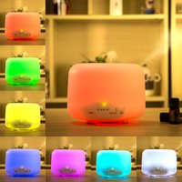 Wholesale 2016 new Colorful LED Mhz Ultrasonic Aromatherapy ML Aroma Diffuser Atomizer Air Humidifier Essential Oil Diffuser ST