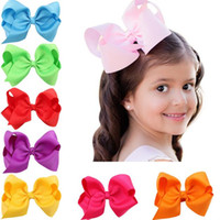 Wholesale 16 Colors Boutique Baby Girl Ribbon Hair Bows Clips Hairpin Baby Butterfly Hairgrip Headware Kids Hair Accessories drop shipping