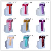 satin chair sash - 2016 satin chair sashes covers for weddings wedding satin chair sash chair decorations bowknot sash for party self tie