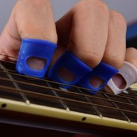 Wholesale Guitar Bass Banjo Fingertip Protectors Pain Free Play finger guard protection guitar parts instrumento musical mooer knobs guitar manche gui