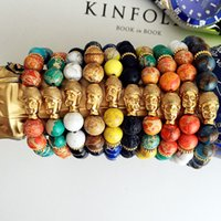 avatar gold - Men Bracelet mm Natural Stone Bracelet Stretch Avatar quot quot Chain