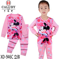 Wholesale 2016 baby minnie mouse clothes piece cartoon suit girls long sleeve t shirts pants clothing sets size Y XD