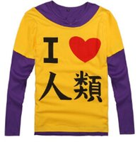 Wholesale fashion No game no life Sora Shiro T shirt cosplay costumes T shirt Disboard Humans I love humans