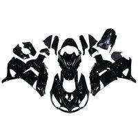 al por mayor carenados zx14r-Carcasas de motocicleta de inyección de color negro brillante para Kawasaki ZX14R ZX-14R ZZR1400 06 07 08 09 10 11 2006 - 2011 Kit de carenado de plástico ABS Carrocería