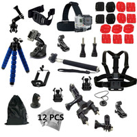 bendable tripod - Gopro accessories Set Chest Body Strap M sticker suction cup for gopro Hero4 Black Edition monopod Bicycle Mount Bendable tripod Mount