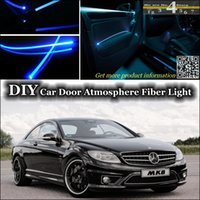 amg tuning - interior Ambient Light Tuning Atmosphere Fiber Optic Band Lights For Mercedes Benz CL MG C140 C215 C216 W215 W216 Panel illumination Refit