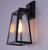 age bedding - Edison lights E27 led Glass Metal quality wall sconce in black color aged led lights wall lights TT2017011