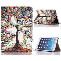 Wholesale For Apple iPad mini PU Leather Case Tree Of Life Flip Retina Smart case For ipad mini1 mini2 mini3