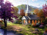 beautiful custom homes - High Quality Beautiful Landscape Art oil painting For Home Wall Decor HD Print on Canvas in custom size