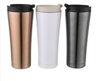 Wholesale 500ml Double Wall Stainless Steel Mug Flexible Cups Coffee Cup Mug Tea