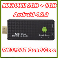 acceptable tv - MK809III TV Dongle RK3188T G G TV Sticks IPTV Media Player Bluetooth VS MXQ S805 S905 M8S Android TV Box Customize logo Acceptable