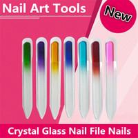 art glass nail file - Fashion Colorful Crystal Glass Nail Buffer cm Buffer Nail Art Buffer Files For Manicure UV Polish Tool Nail Files