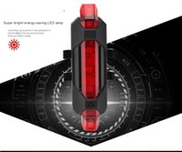 Wholesale Portable Rechargeable LED USB Cycling Bike Tail Light Taillight MTB Safety Warning Bicycle Rear Seat Light Lamp Bycicle Light
