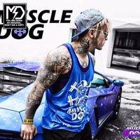 active dog - Muscle Dog Singlet Tank Top Men Fitness Vest Bodybuilding Regatas Gold s Gym Stringer Sleeveless Shirt Cotton Clothes