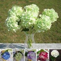 beautiful christmas crafts - Beautiful Faux Artificial Silk Floral Flower Hydrangea Home Wedding DIY Party Garden Decor Craft Art DIY