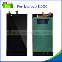 Cheap 50pcs 100% Original lcd screen for Lenovo K900 touch screen digitizer replacement free DHL for Lenovo K900 Tim03