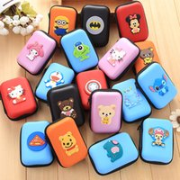 Wholesale Hot selling Easy carring adorable creative cartoon square character coin purse colorful multi style multifunction Coin Purses