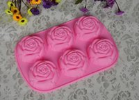 Wholesale 2016 new even roses silicone cake mold high quality cake tool