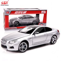 diecast cars - 1 Model Cars Diecast Car Model Scale Toy Trucks Alloy Car With Glow LED Speaker Pull Back Car Kids Toys BMW M6