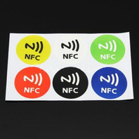 Wholesale 6PCS Colorful Waterproof NFC Stickers RFID Adhesive Label for HTC Samsung Supertop G00127