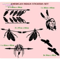 auto charts - American Indian Set Of Stickers Perfect For x4 SUV Car Wall Sticker Creative Body Car Stickers PVC Car Auto Decals