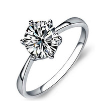 Wholesale Couple Engagement Rings Sterling Silver High Quality Jewelry Fashion Wedding Rings Engagement Diamond Jewelry