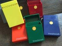 al por mayor cigar cigarette-Marca de lujo Full Pack 20 Piezas sharpstone colorido de la caja de cigarros cigarrillos titular caso de almacenamiento de tabaco regalo