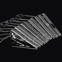 Wholesale Bluelans Multi Styles Gentleman Silver Metal Simple Necktie Tie Clip Bar Pin Practical for men gift