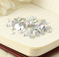 Wholesale Fine white AB flat diamond Creative DIY fashion accessories as phone shell dress etc ornament accessory bag