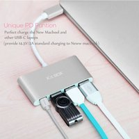 Wholesale Type C Hub USB Type C To USB Port Hub Multiport Adapter For Macbook Type C Hub High Speed Hub USB3 USB Port Charger