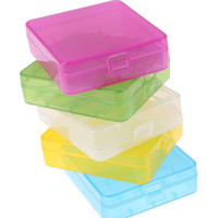 Wholesale Box Portable Hard Plastic Battery Case Holder Storage Case Box for battery with Hook Holder plastic box