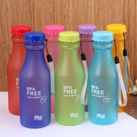 Wholesale Hot Sale ML Portable Candy Color Leak proof Water Bottle Plastic Sport Lemon Juice Cup Pop Outdoor Travel Mug Drinkware