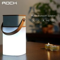 Wholesale ROCK Original Mulite Bluetooth Speaker Super Bass Music Subwoofer Speakers With LED Light TF Card Brand louspeaker box