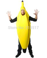 bananas music - Adult and kids Fancy dress Funny banana costume suit novelty Halloween carnival party decorations Parent child clothing D