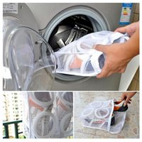 Wholesale Washing Shoes Bag Mesh Net Pouch Washing Machine Cleaning Laundry Shoe Bag Care Case Dry Shoe Organizer