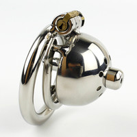 Wholesale Super Small Male Chastity Device Short Cock Cage With Urethral Sounds Catheter Sex Toys For Men