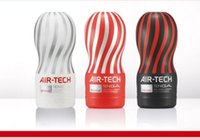 Wholesale Air tech Reusable Vacuum Sex Cup Vagina Real Pussy Male Masturbator Cup Sex Toys For Men Sex Products