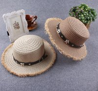 Wholesale 2016 Brand Fashion Multicolor Women Ladies Summer Style Beach Panama Wide Brim Sun Hat Female Straw Hat Cap With Flower