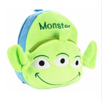 baby aliens toys - 2016 New Cartoon Baby Backpacks Cute Toy Story Aliens Plush Backpack Children Shoulder Bag for Kindergarten