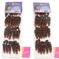 Wholesale 6PCS Bonny Hair Extensions Bebe Curl pack Color1B Abijan Curl Afro Hair Extension Short Hair Piece Best Quality